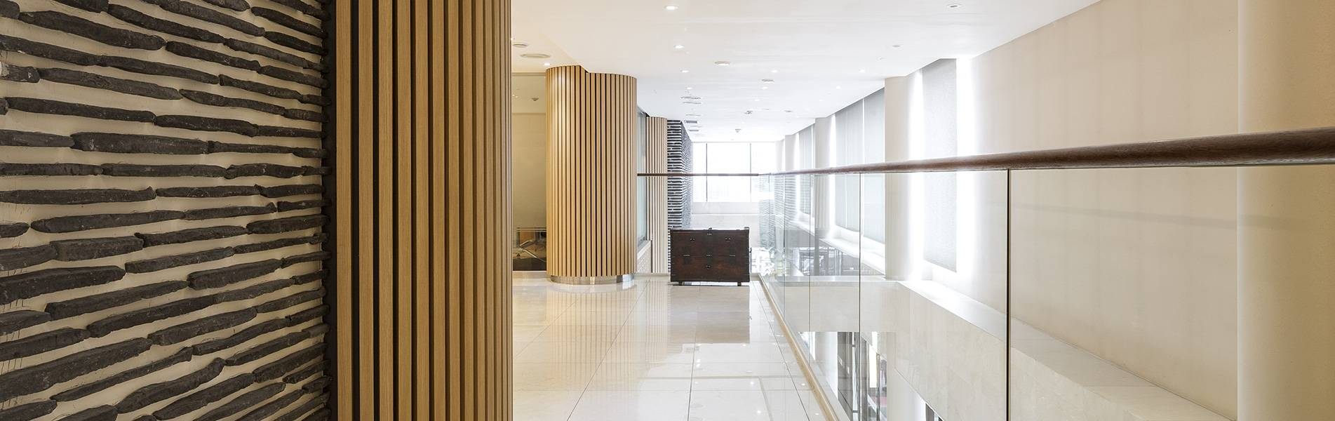 modern ballestrading in a corporate building