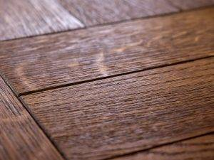 close up of dark stained wood