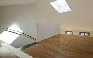 loft conversion with wooden flooring