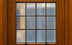 traditional window with wooden window frame