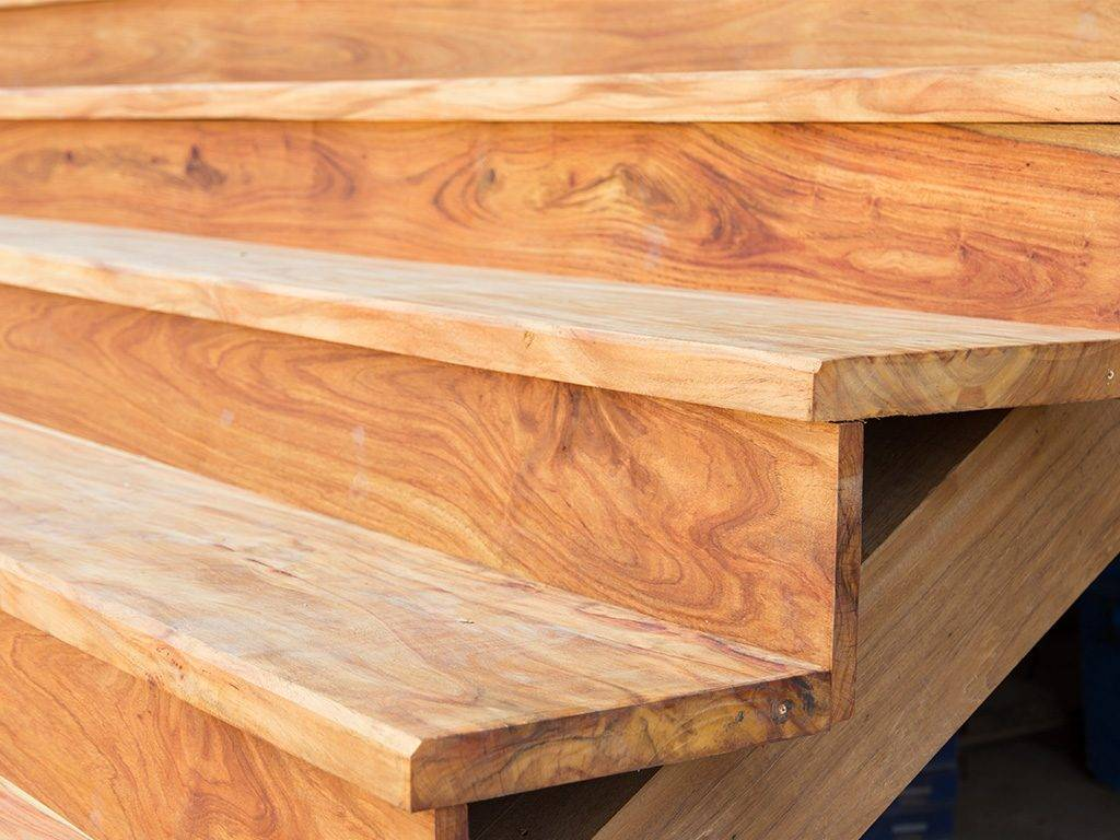 All solid wood staircase