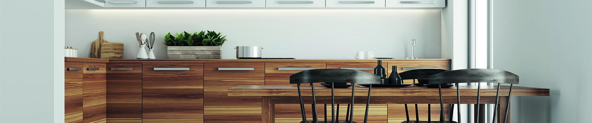 bespoke hardwood modern style kitchen