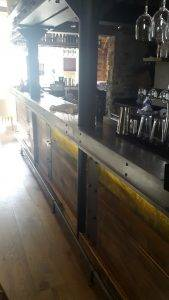 wooden bar area