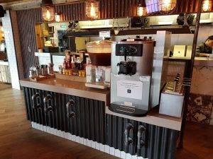 new coffee machine in modern restaurant