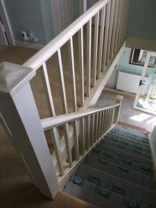wood banister