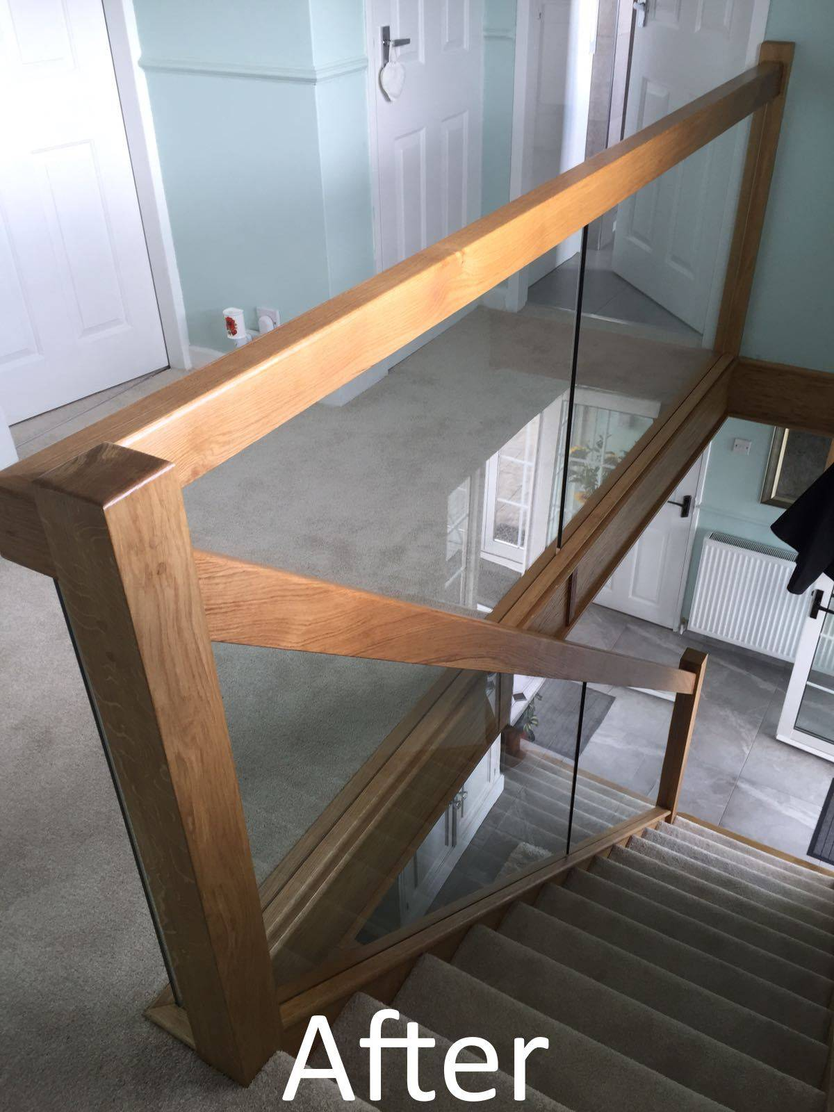 after shot of new staircase