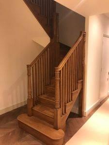 wooden staircase installation