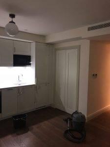 new wooden kitchen cabinet installation