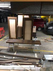 wooden doors and framing