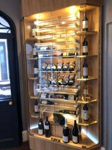 red wine cabinet