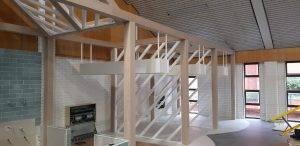 internal wooden framing