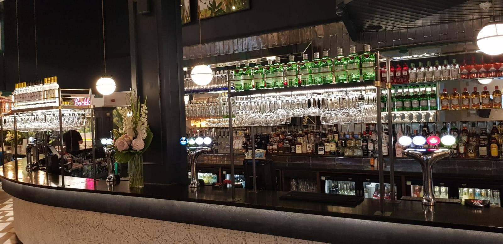 drinks at bar