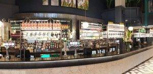 bar with large drink selection