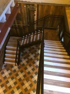 new staircase in modern restaurant